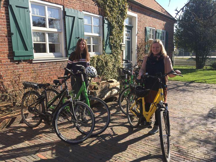 Fahrradverleih in der Tourist-Information Friedeburg