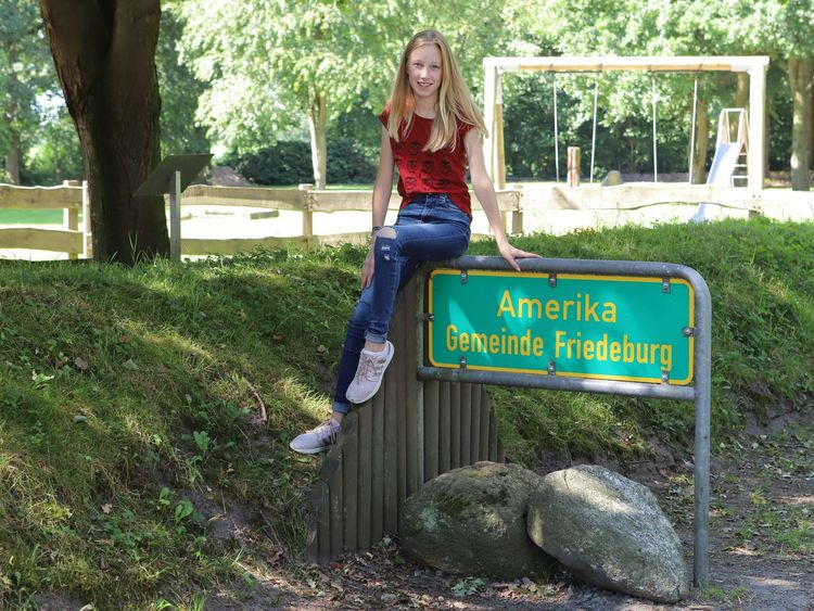 Ortsteil Amerika beim Amerikaplatz in Friedeburg-Ostfriesland