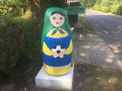 Fußball Matroschka in Friedeburg-Rußland