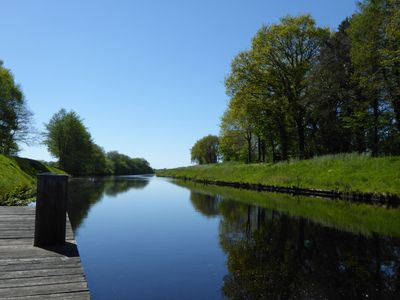 Sommerstimmung am Kanal in Friedeburg
